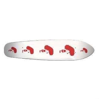 Clown in Red and White. Cartoon. Custom Skate Board