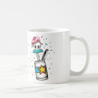 Clown-in-the-Box Skeletal Coffee Mug