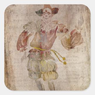 Clown in the Mirror Square Sticker