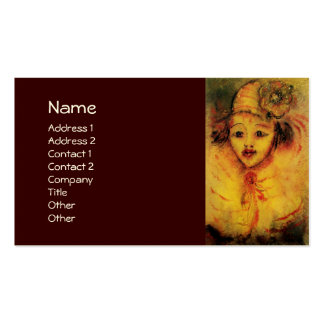 CLOWN IN YELLOW ,brown Business Card