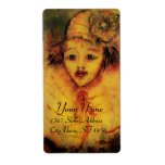 CLOWN IN YELLOW PERSONALIZED SHIPPING LABEL