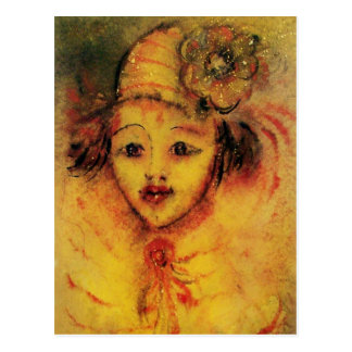 CLOWN IN YELLOW POSTCARD