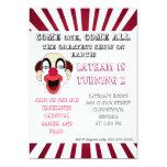 """Clown invitation 5"""" x 7"""" invitation card"""