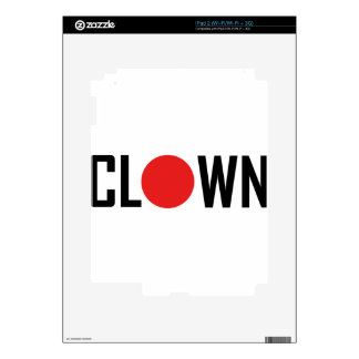 clown iPad 2 decals