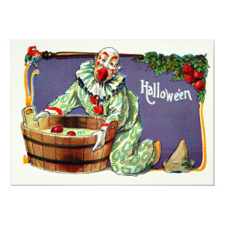 Clown Jester Bobbing For Apples Card