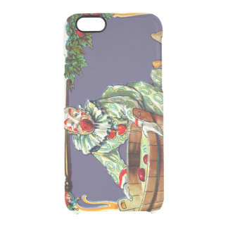 Clown Jester Bobbing For Apples Clear iPhone 6/6S Case