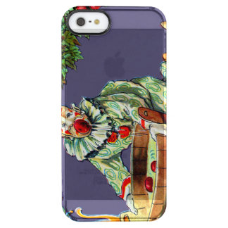 Clown Jester Bobbing For Apples Clear iPhone SE/5/5s Case