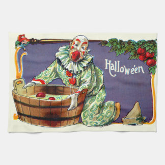 Clown Jester Bobbing For Apples Kitchen Towel