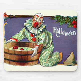 Clown Jester Bobbing For Apples Mouse Pad