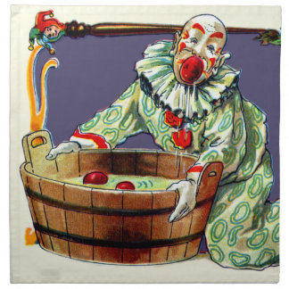 Clown Jester Bobbing For Apples Napkin