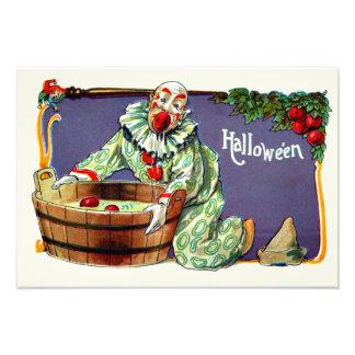 Clown Jester Bobbing For Apples Photo Print
