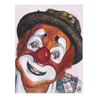 Clown Jonathan Freddies Postcard