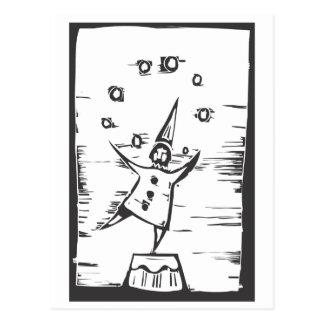 Clown Juggler Postcard