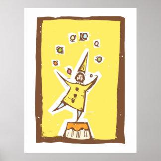 Clown Juggler Poster