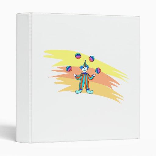 Clown juggler vinyl binder