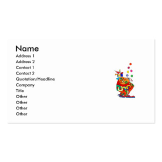 Clown Juggling Balls Double-Sided Standard Business Cards (Pack Of 100)