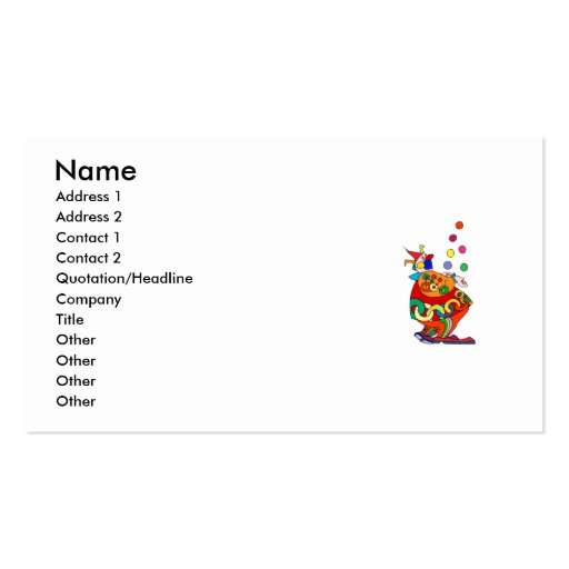 Clowns business card templates bizcardstudio clown juggling balls business cards colourmoves