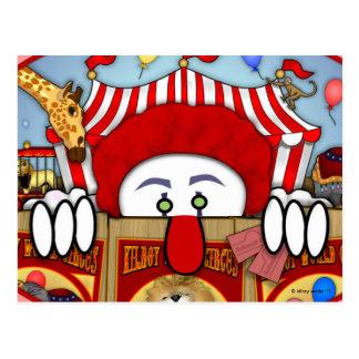 Clown Kilroy Postcard