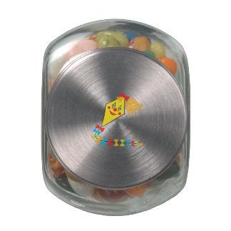 Clown Kite Glass Jars