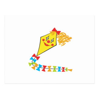 Clown Kite Postcard