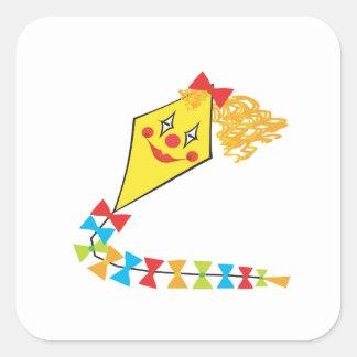 Clown Kite Square Sticker