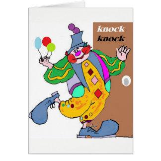 Clown Knock Knock Birthday Card
