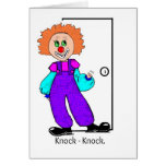 Clown Knock-knock Joke Banana Greeting Card