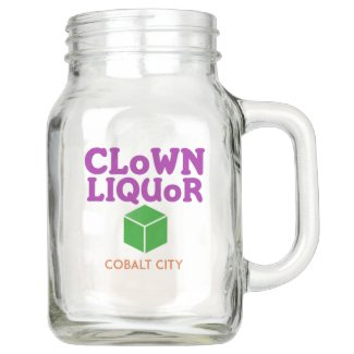Clown Liquor Mason Jar
