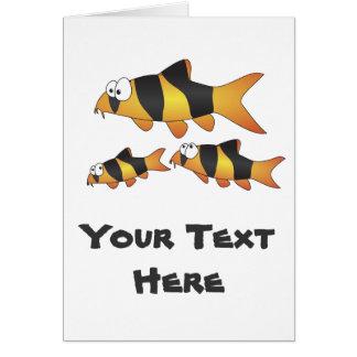 Clown loach family greeting card