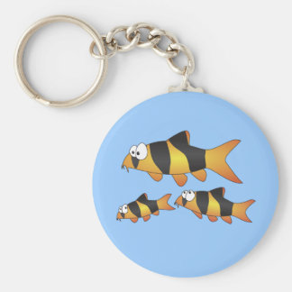 Clown loach family keychain
