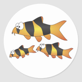 Clown loach family stickers