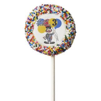Clown Look Who's 3 Third Birthday Dipped Oreos Chocolate Dipped Oreo Pop