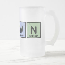 Frosted Glass Mug with Clown design