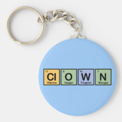 Basic Button Keychain with Clown design