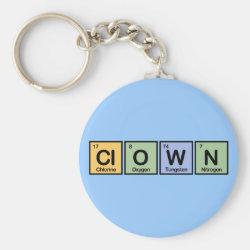 Basic Button Keychain with Clown design