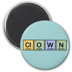 Round Magnet with Clown design