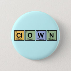 Round Button with Clown design