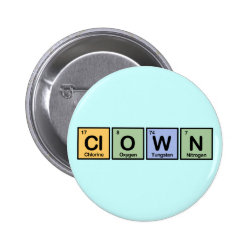 Clown Round Button