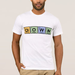 Men's Basic American Apparel T-Shirt with Clown design