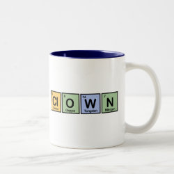 Two-Tone Mug with Clown design