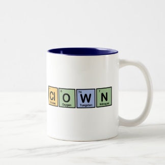 Clown made of Elements Two-Tone Coffee Mug