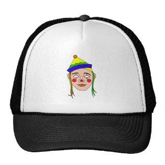 clown mask trucker hat