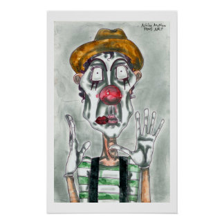Clown Mime Poster