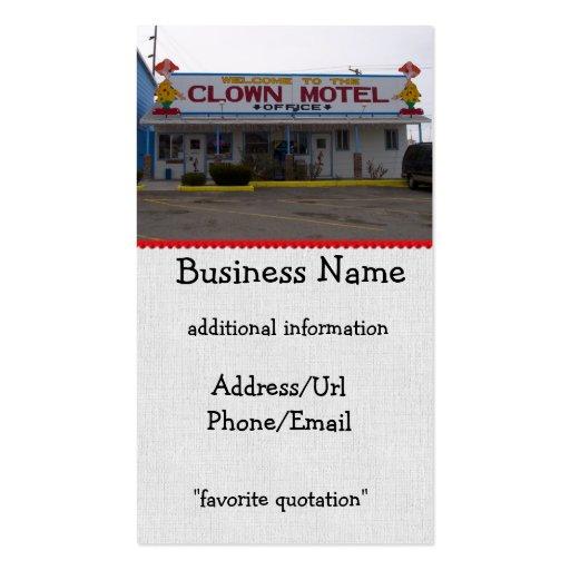 Clown Motel Business Card Template
