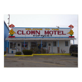 Clown Motel Card