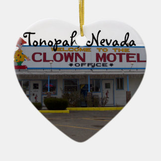 Clown Motel Ceramic Ornament