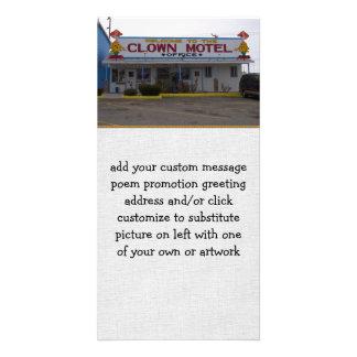 Clown Motel Picture Card
