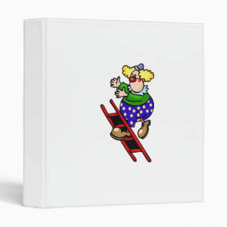 Clown on Ladder Vinyl Binders