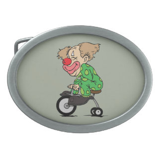 Clown on Tricycle Belt Buckle