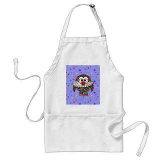 clown owl adult apron